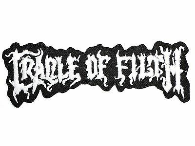 """CRADLE OF FILTH Logo Metal Iron On Sew On Shirt Applique Badge Patch 4.2"""""""