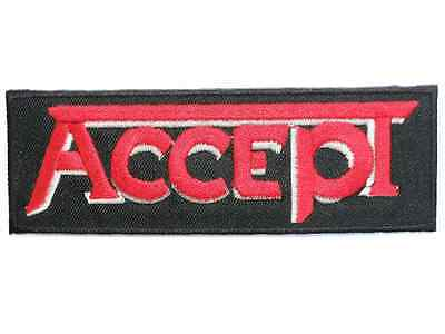 """ACCEPT Logo Heavy Metal Iron On Sew On Jacket Badge Patch 4.5"""""""