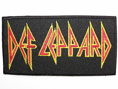 """DEF LEPPARD Rock Logo Iron On Sew On Shirt Applique Badge Patch 3.9"""""""