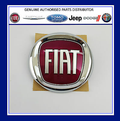 Genuine New Fiat 500 Panda Rear Tailgate Badge Red Logo Emblem 735565897