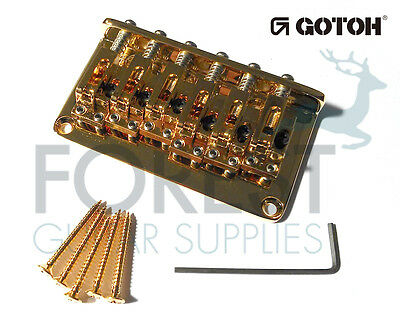 GOTOH Guitar Hardtail fixed Bridge GTC12, 12 strings, Gold