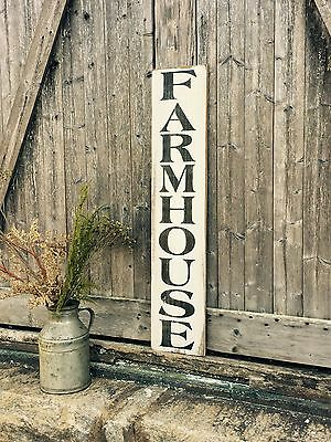 """Large Rustic Wood Sign - """"Farmhouse"""" Vertical - 3 Feet!!! - Fixer Upper, Kitchen"""