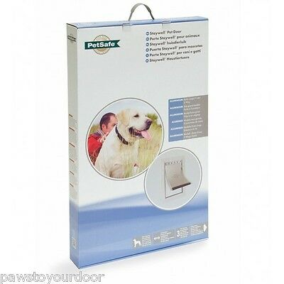Staywell Petsafe 660 Extra Large Dog Door 2 way Aluminium White Flap 660ML Pet