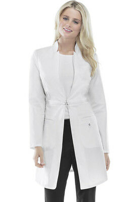 "Scrubs Cherokee Luxe Womens 32"" Lab Coat 1404 WHTV White  WE SHIP FREE"