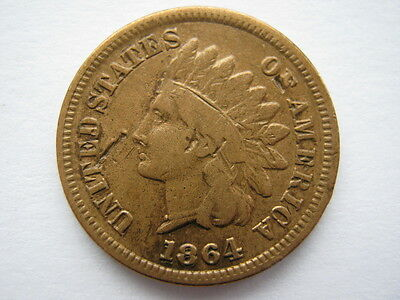 United States 1864 L bronze Indian Head Cent Double date RARE