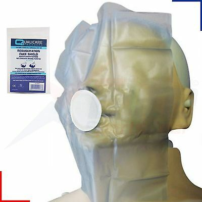 Qualicare Mouth to Mouth Resuscitation Aid CPR Face Shield with Filter