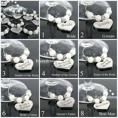 Wedding Party Supplies Champagne Dining Bar Wine Glass Charm Table Decorations