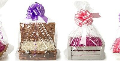 Large Clear Cello Bag 2 Pack End Of Roll 55cm X 70cm Cellophane Gift Hamper wrap