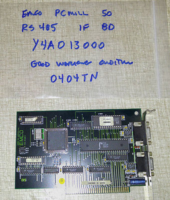Emco PCMill 50 PCTurn ISA RS-485 Interface PC Mill Turn Y4A013000  0404TN