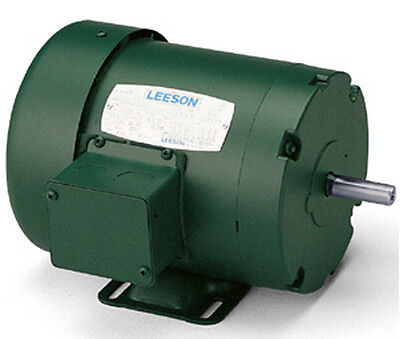 Leeson Electric Motor E100375.00 C4T34DC45A 1/3 HP 3600 Rpm 3PH 230/460 Volt