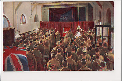 Vintage Postcard  King George V WWI Service with the Soldiers