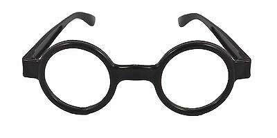 Nerdy Glasses Plastic Clear Lenses Harry Potter Style Fancy Dressing Up Frames