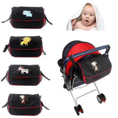 Universal Stroller Organizer Cup Holder Buggy Pram Diaper Storage Messenger Bag
