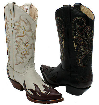 Men's Genuine Leather Western Cowboy Boots Style 80106 • $87.99 ...