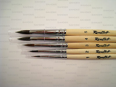 PURE SQUIRREL PROFESSIONAL 5 Brush Set 1410 Serie Watercolour Russian Roubloff