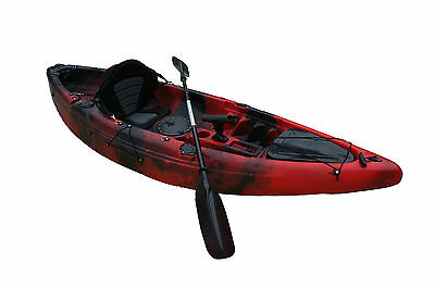 Single sit on top KAYAK fishing RED/Black camo NEW COLOR ,more storage space.