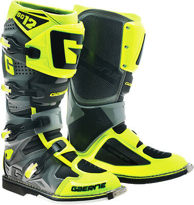 NEW Gaerne 2018 Mx SG-12 LIMITED EDITION Dirt Bike Fluro Yellow Motocross Boots