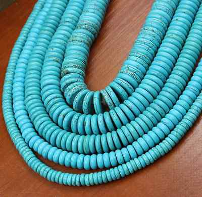 4mm 6mm 8mm 10mm 12mm Natural Turquoise Gemstone Heishi Beads Spacer New