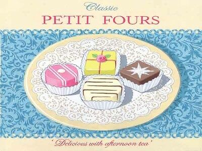 Petit Fours French Fancies Cupcake Pastry Home Bakery Metal Sign Tin Plaque 738