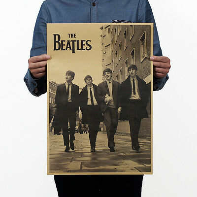 Retro Antique Poster Vintage Style Wall Decor Picture The Beatles Fast Post
