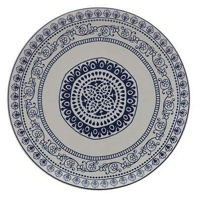 New Maxwell & Williams Blue Antico 31cm Round Platter Gift Boxed