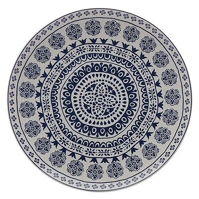 New Maxwell & Williams Blue Antico 36.5cm Round Platter Gift Boxed