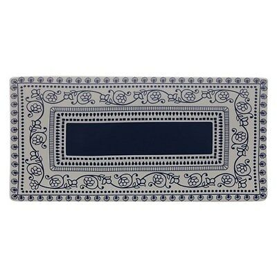 New Maxwell & Williams Blue Antico 38 x 18cm Rectangle Platter Gift Boxed