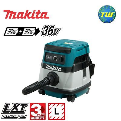 Makita DVC861LZ Twin 18V (36V) Cordless or 110V Corded Dust Extractor Body Only