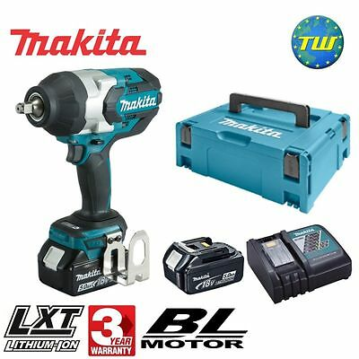 Makita DTW1002RTJ 18V BRUSHLESS High Torque 1/2in Impact Wrench 2x 5.0Ah Li-ion