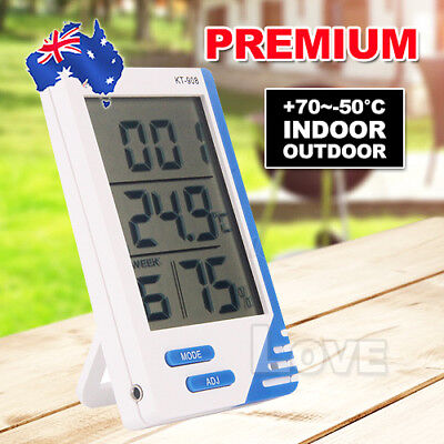 OZ for Indoor Outdoor Digital LCD Humidity Temperature Thermometer Meter