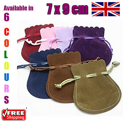 7 x 9 cm Oval Velvet Gift Pouches Wedding Favour Bags Jewellery Pouch 6 Colours
