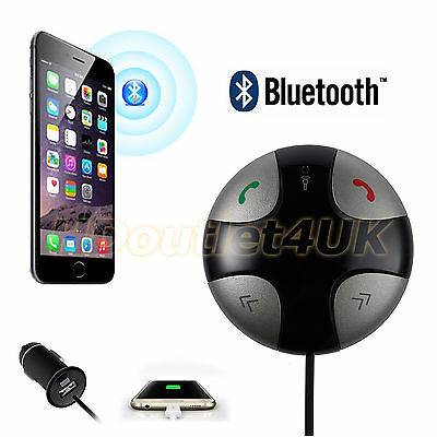 Car Hands Free Wireless Bluetooth Transmitter MP3/FM Sticker USB SD LCD Charger