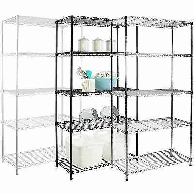 5 Tier Metal Storage Rack/shelving Book Shelf Kitchen/office Display Unit 150Cm