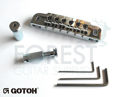 GOTOH guitar bridge 510UB, hard zinc saddle, chrome
