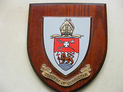 Wooden Wall Plaque Diocese of Gibraltar