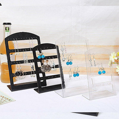 Fashion Design Holes Ear Stud Display Holder Showcase Jewelry Earrings