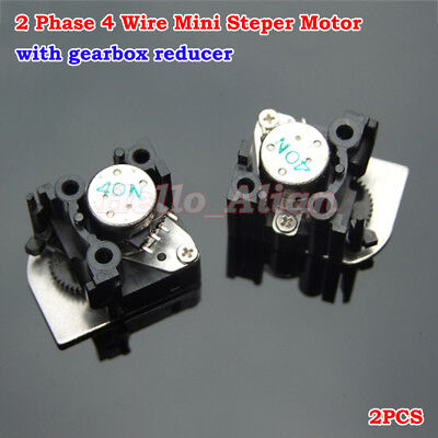 2PCS 2-phase 4-wire Micro Mini Stepper Motor w/ Gearbox Reducer for Camera DIY