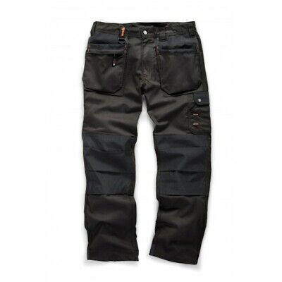 Scruffs WORKER PLUS Black Mens Work Trousers Trade Hardwearing Combat Cargo