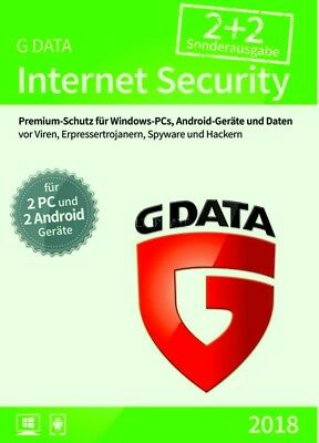 G Data Internet Security 2017 2 PCs + 2 Android*KEY*Special Edition*GData*