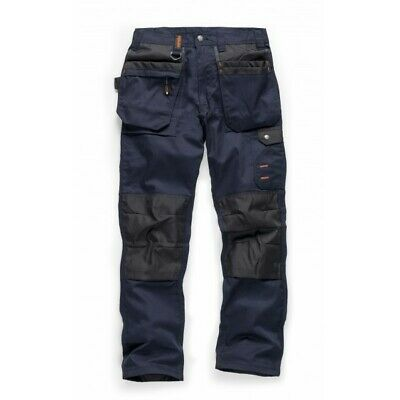 Scruffs WORKER PLUS Trousers Multi-Pocket Navy (Various Sizes) Trade Mens Work