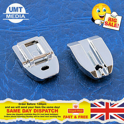 INVISIBLE ZIPPER FOOT - For Domestic Sewing Machines Snap on Stitch Presser UK