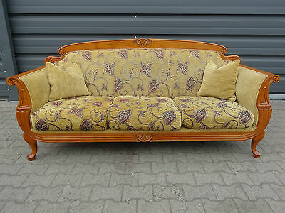 jugendstil sofa in weichholz nach 1900 eur 690 00. Black Bedroom Furniture Sets. Home Design Ideas