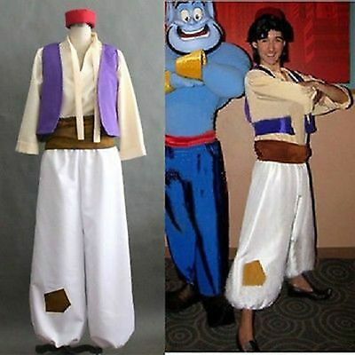 hot !! new Animation Aladdin New Aladdin's lamp Prince Cosplay Costume Men Sets