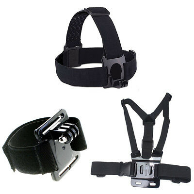 Phot-R Adjustable Head Chest Wrist Strap Mount Belt Kit for GoPro Hero 2 3+ 4 5
