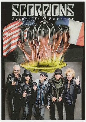 SCORPIONS carte postale n° ATHQ 266  RETURN TO FOREVER