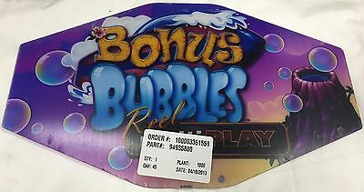"Slot Machine Topper Insert "" Bonus Bubbles """
