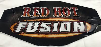 "Slot Machine Topper Insert "" Red Hot Fusion """
