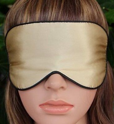 Sleep Eye Masks, Comfortable Natural Silk, Ultra Soft & Light (Gold) - US Seller