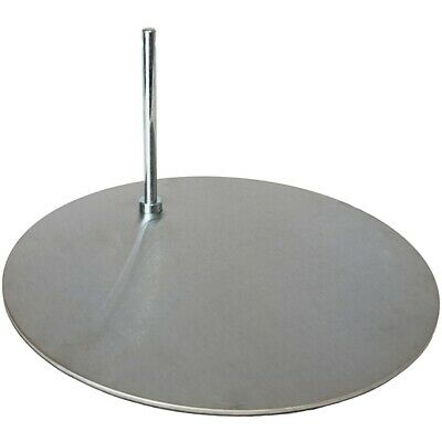 "MA-013 Silver Toned Round Metal Base for Mannequin with 0.5"" Diameter Sole Rod5"