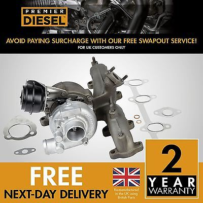 Skoda Octavia  1.9 TDI 66 Kw 90 HP 713672 Turbocharger Turbo + Gaskets